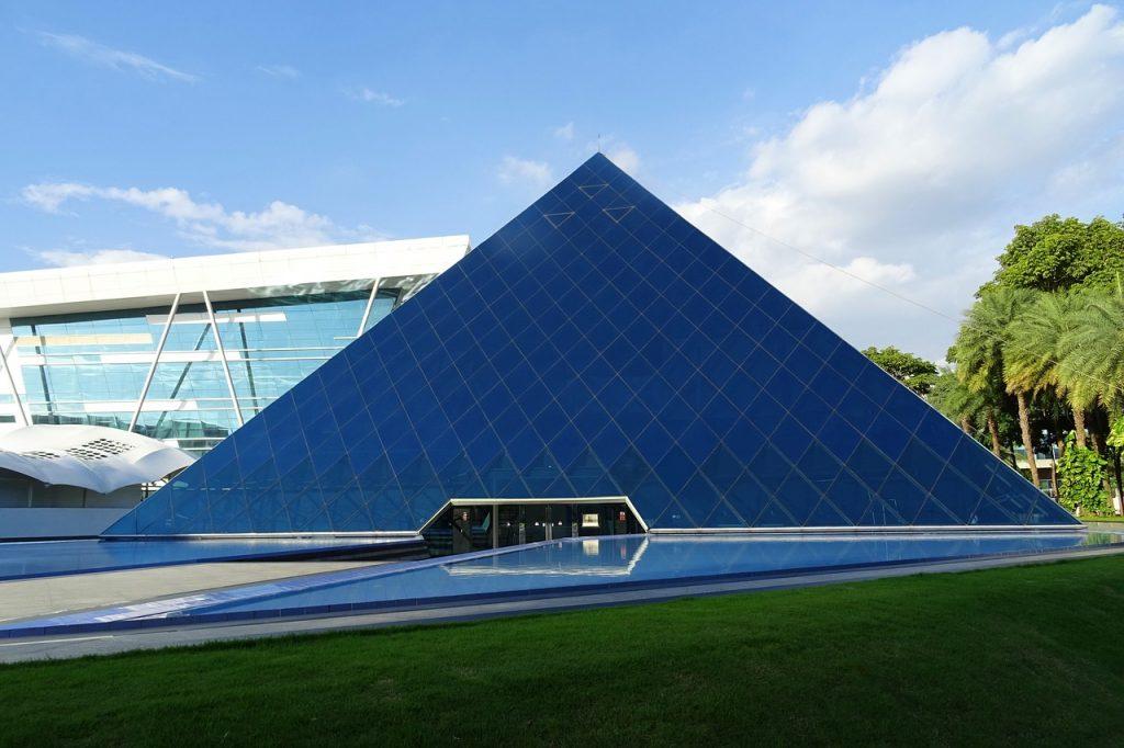 building, architecture, pyramid